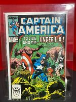 Captain America #329 1987 MARVEL COMICS SIGNED JOHN BEATTY
