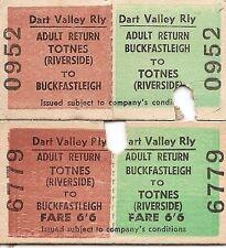 Dart Valley Railway Edmondson Tickets - Buckfastleigh to Totnes Riverside x 2