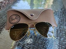 VINTAGE RAY BAN AVIATOR  GOLD  LENSES SUNGLASSES  B&L MADE IN USA