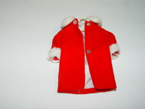 Estate Vintage 1963 Mattel Barbie Skipper Doll Red White Winter Coat # 5
