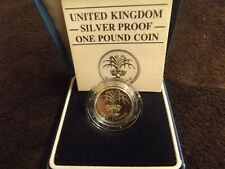 1985 Silver Proof Royal Mint Welsh £1 one Pound coin in case & certificate