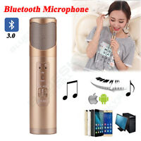 Pro Wireless Cordless Microphone Bluetooth DJ Singing Karaoke Mic For Phone PC