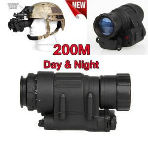 200M Infrared Waterproof 2X Monocular Helmet Night Vision Goggles Day & Night