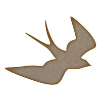 Swallow MDF Laser Cut Craft Blanks in Various Sizes