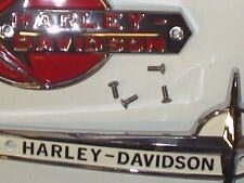 59-62 Panhead HARLEY DAVIDSON GAS TANK EMBLEM SCREWS Set of 4 OEM # 2070 Screws