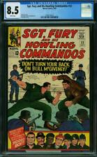 SGT FURY AND HIS HOWLING COMMANDOS 22 CGC 8.5 WHITE PAGES A4