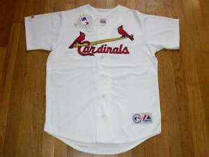 St. Louis Cardinals White Home Jersey w/Tags  Size M (Adult)