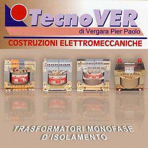 Trasformatore Monofase D'isolamento 0-230-0-230 Elettrico da 30Va ad 10000VA