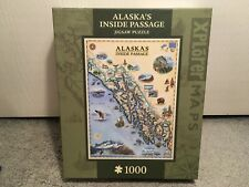 "Masterpieces Xplorer Maps Jigsaw Puzzle ""Alaska's Inside Passage"" 1000 Pieces"