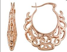 JTV Timna Collection Copper Hoop Earrings