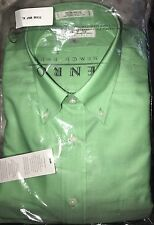 NIP ENRO Mens Shirt 100% Non-Iron Cotton Oxford Collar MINT GREEN SZ XXL 2XL