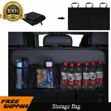 Leather Car Hatchback Rear Luggage Cargo Trunk Nylon Storage Organizer Mesh Net