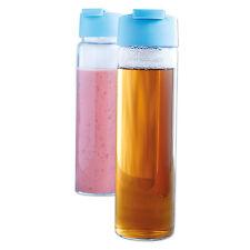 CRISTAL BPA Libre Botella 550ml 0,55L TRANSPARENTE AZUL 2178-1116 NUEVO Y EMB.