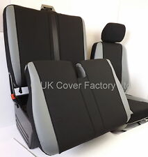 VW TRANSPORTER T5  VAN SEAT COVERS GREY LEATHER INSERTS P50GRY  IN STOCK!!!!