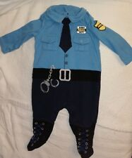 2--Baby Police Officer Costume Cop Policeman Infant 3 Months AND Elvis Onzie EUC
