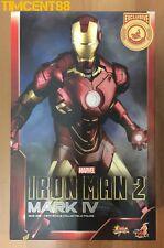 Ready! Hot Toys MMS338 Iron Man 2 Mark IV 4 Tony Stark Shanghai Disney 1/6