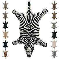 Tappeto bagno salotto camera animali 90x150cm morbido 100% lana zebra orso tigre