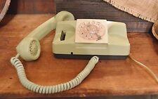 Funky Retro Avocado Green A/E-GTE Green Model 182 Rotary Dial Desk Telephone