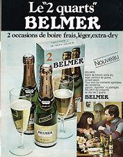 PUBLICITE ADVERTISING  1971    BELMER   vin mousseux