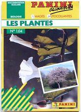 Album PANINI découvertes les PLANTES n° 1 1.04 images autocollantes biologie 89
