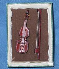 "Modern Miniature 2-1/8"" Violin with Box & Bow"