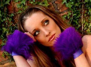 Funki-B Faux Fur fluffy cuffs wrists ANY COLOURS rave accessories neon plain UV