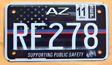 """ARIZONA """" FIRST RESPONDERS PUBLIC SAFETY AZ MOTORCYCLE ' Specialty License Plate"""