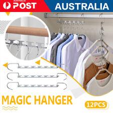 12 pcs Wonder Metal Magic Hanger Space Saver Saving Bulk Clothes Closet Hanger