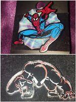 Spiderman Pin Lot of 2 Black Suit & Classic Universal Studios Marvel Superhero