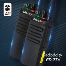 2pcs Radioddity Gd-77s 1024ch VHF UHF Time Slot 2 DMR Digital Ham Two-way Radio