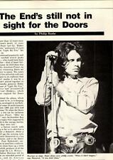 1984 Vintage 2Pg Print Article Jim Morrison+The Doors End'S Still Not In Sight