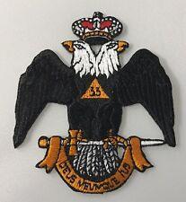 33rd Degree Freemason Masonic Master Mason Iron on Patch