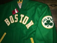NWT Authentic Mitchell & Ness BOSTON CELTICS Varsity Wool Jacket 44 (LG) $450+