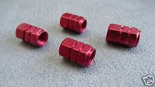 MINI COOPER RED FULL METAL DUST VALVE CAPS TYRE WHEEL SOLID HEXAGON COVER