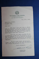 Original WW2 Canadian Lt. Col. Letter to Major from The Queens York Rangers, 46d