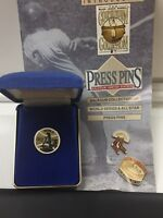 1972 Oakland A's World Series Press Pin Balfour Box COA & Papers