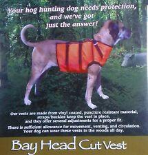 Hog Hunting Protection Vest for Dogs Regular Vest Small Orange