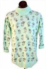 Ladies TOP CAT Sweater Turtleneck Hanna Barbera Augie Doggie Vintage 80 NEW LG L