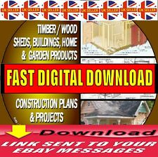 OVER 1000  DIY WOOD PLANS & PROJECTS HOUSES SHEDS WOODEN BUILDINGS FAST DOWNLOAD