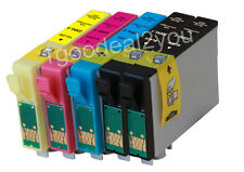 5PK T220XL Compatible Ink Cartridges for Epson XP320 XP420 WF2630 WF2650 WF2660