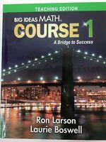 Big Ideas Math Course 1 Bridge to Success GREEN Middle School TEACHERS EDITION