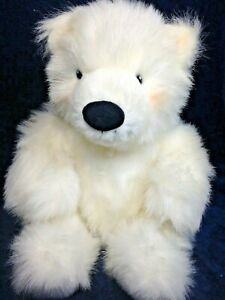 "Russ Igloo Polar Bear White Plush RARE Stuffed Animal LARGE 12"" Teddy Soft Toy"