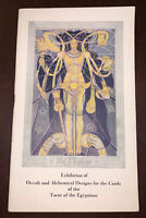 ALEISTER CROWLEY, THOTH TAROT CARD EXHIBITION CATALOG, 1941, 1st, OCCULT, HARRIS