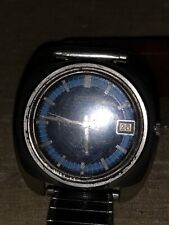 Seiko Automatic 17 Jewel Mens Wrist Watch 7005-7089 Blue Dial Running