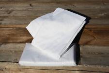 Betttuch Bettlaken 150x250 cm weiß ohne Gummizug aus 100% Baumwolle ca. 140g m²