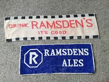 2 X VINTAGE RAMSDENS ALES BAR TOWELS