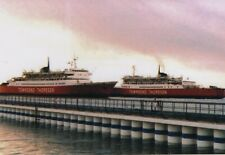 Townsend Thoresen LEOPARD and DRAGON passing by in Le Havre harbour in 1986