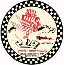 Gratiot Hod Rod Shop Vintage 1960's Style Travel Decal sticker  Detroit MI