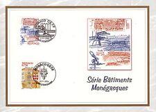 MONACO CEF PREMIER JOUR  2004 TIMBRE  N° 2463 . 2465 SERIE BATIMENTS MONEGASQUES