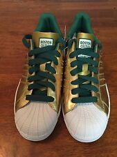 Adidas Superstar Shoes 2008 Mens NBA Champions Boston Celtics Sz 7 Gold NWT Rare